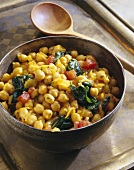 Chick-pea stew with spinach