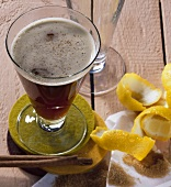 Cremat, coffee with brandy, rum and cinnamon