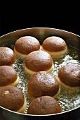 Doughnuts in hot fat