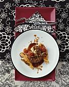 Beef steak, cherry tomatoes, mushrooms & sweet potato crisps