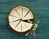 Lemon tart, cut into pieces