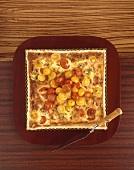 Square tomato tart
