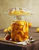 Pickled lemons and savoury orange salad