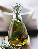 Spiced oil with rosemary and chillies