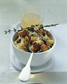 Mushroom gratin with thyme