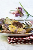 Lamb and courgette salad