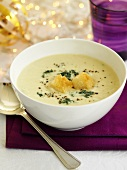 Cauliflower and Roquefort soup for Christmas