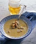 Munich beer soup with croutons