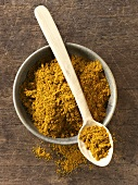 Curry powder in bowl and on spoon