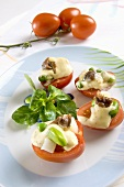 Tomatoes with anchovies and mayonnaise