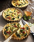 Broccoli and bacon quiches