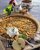 Apple tart with brandy and apple puree (UK)