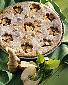 Apple pie with candied ginger