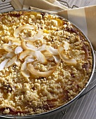 Apricot and coconut tart