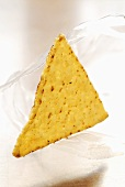A tortilla chip
