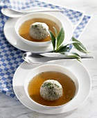 Bavarian liver dumpling soup
