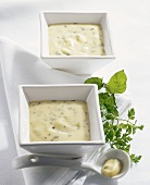 Sauce Paloise (Butter sauce with chervil and peppermint)