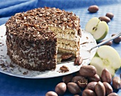 Huguenot cake (Apple and pecan cake, USA)