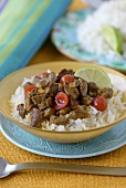 Khoreshe Albaloo (Spicy beef with cherries, Iran)