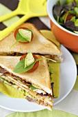 New York club sandwich, toasted