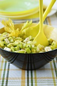 Celery salad in a bowl