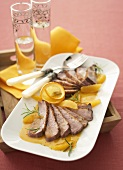 Duck breast with Campari orange sauce