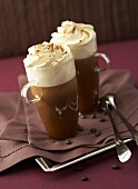 Two glasses of Irish coffee