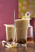 Whisky and coffee zabaione in two glasses