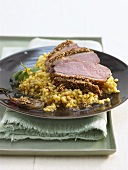 Duck breast with sesame crust