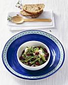 Bean and pear salad