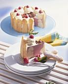 Raspberry and vanilla charlotte