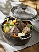 Pot au feu (Beef and vegetable stew, France)