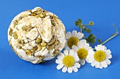 Bath bomb with chamomile