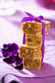 Wafer slices with walnut nougat to give as a gift
