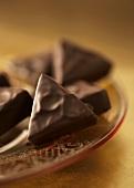 Chocolate Earl Grey truffles on plate