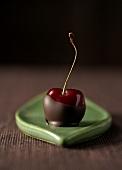 Chocolate-dipped cherry