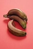 Red bananas on red background