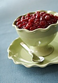 Cranberry relish in sauce-boat