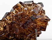 Brown rock sugar (close-up)