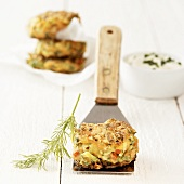 Vegetable burgers with quark