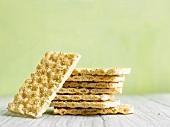 Several sesame crispbreads