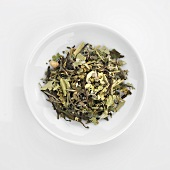 Dried herb mixture for making tea