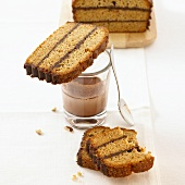 Zwieback cake with chocolate filling