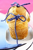 Two pineapple and coconut muffins to give as a gift