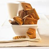 Almond Printen in white dish