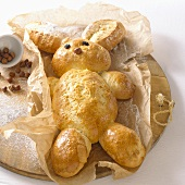 Baked Easter Bunny (yeast dough)