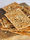 Organic crispbread with pumpkin seeds
