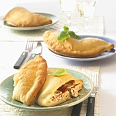 Calzone with mushroom filling