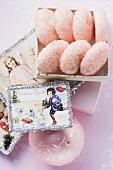 Pink sugar cookies for Christmas