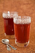 Two glasses of rooibos tea